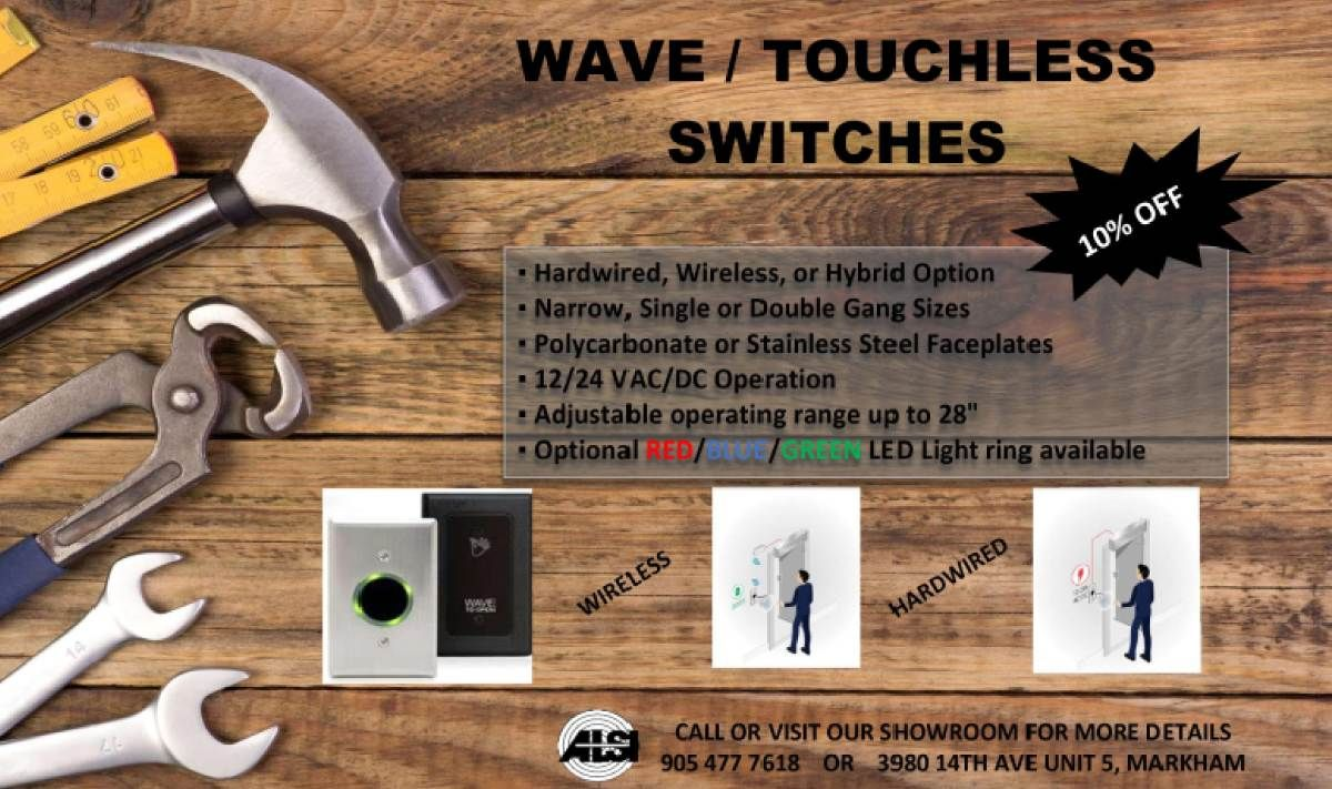 Wave touchless switches