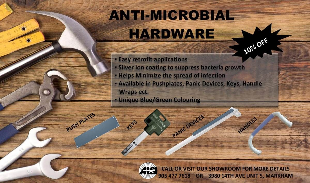 Anti microbial hardware
